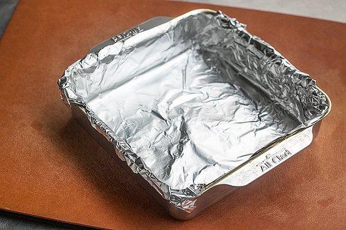 Foil lined pan